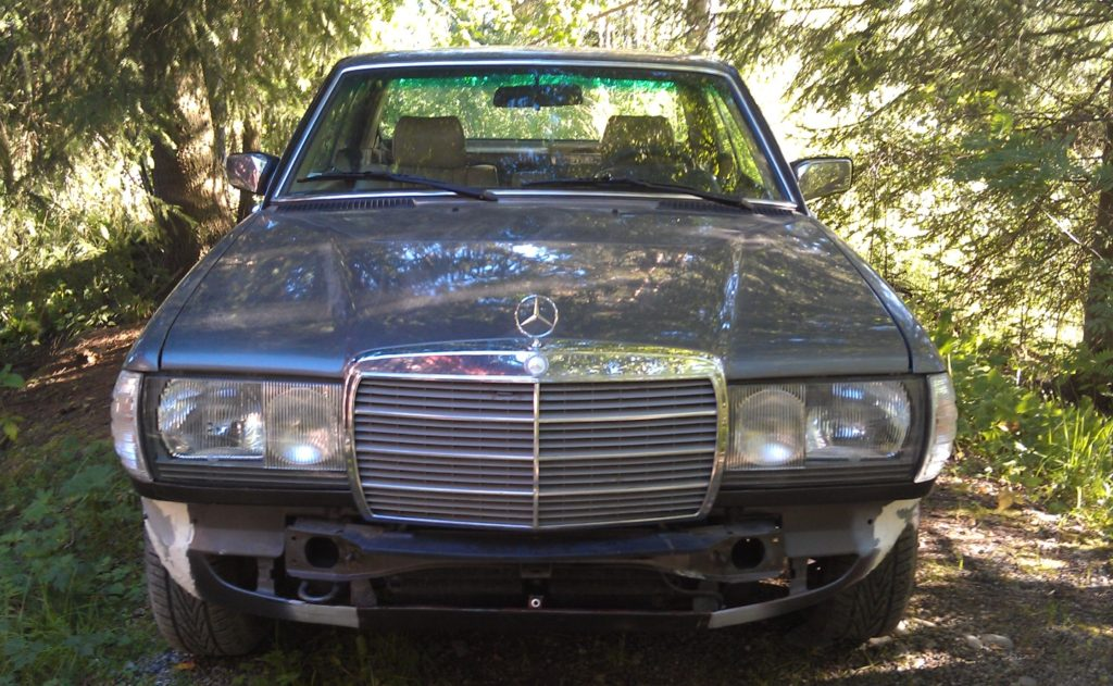 mercedes benz 280ce front without bumpers