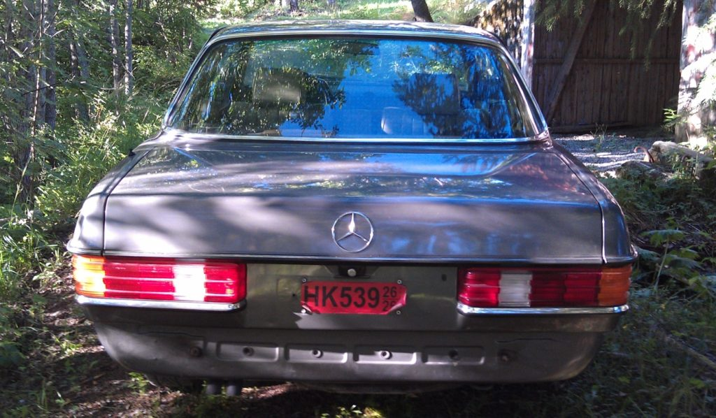 mercedes benz 280ce rear without bimpers