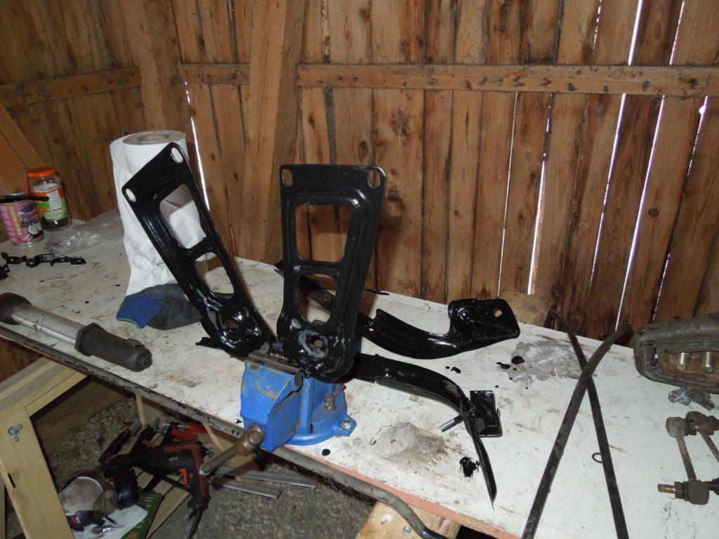 rear subframe mounting plates