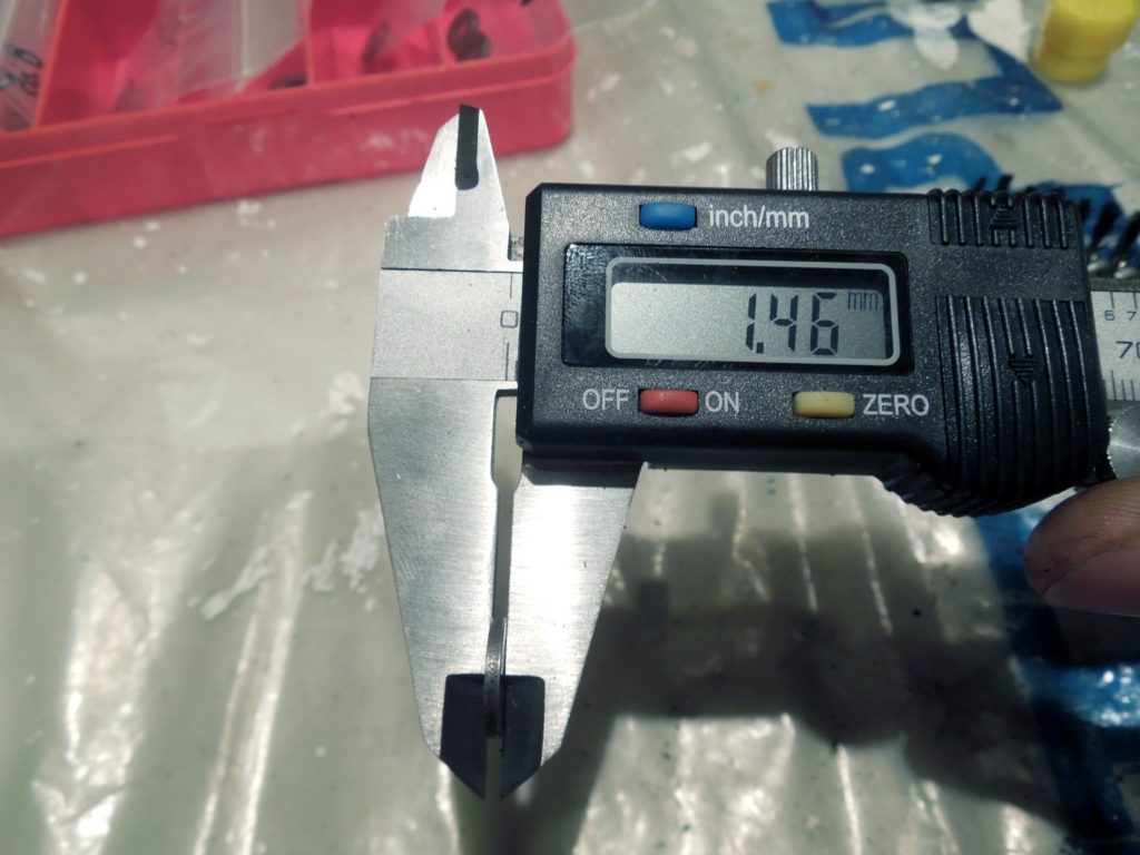 Dial Caliper to measure shim sizes