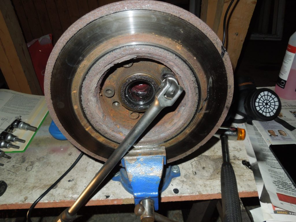 unbolting front rotor