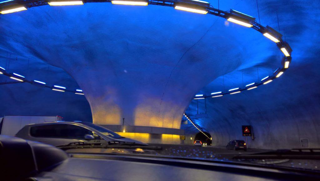 scenic tunnel in hardanger