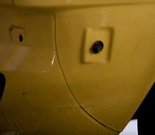 w123 front fender seam
