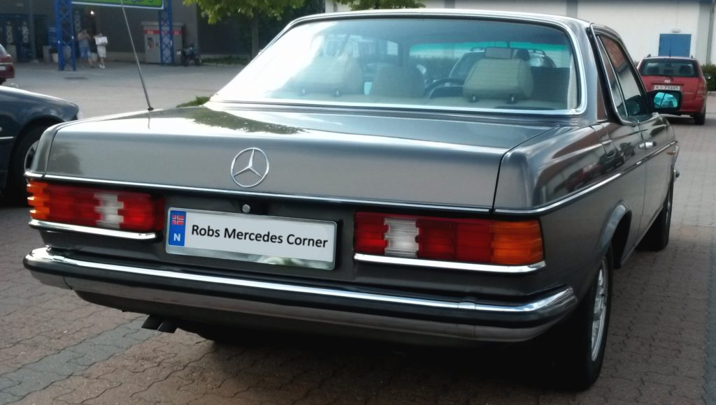 mercedes benz w123 280ce rear