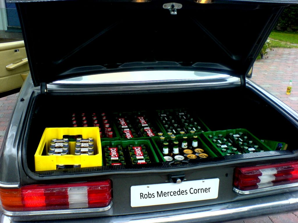 beer in trunk