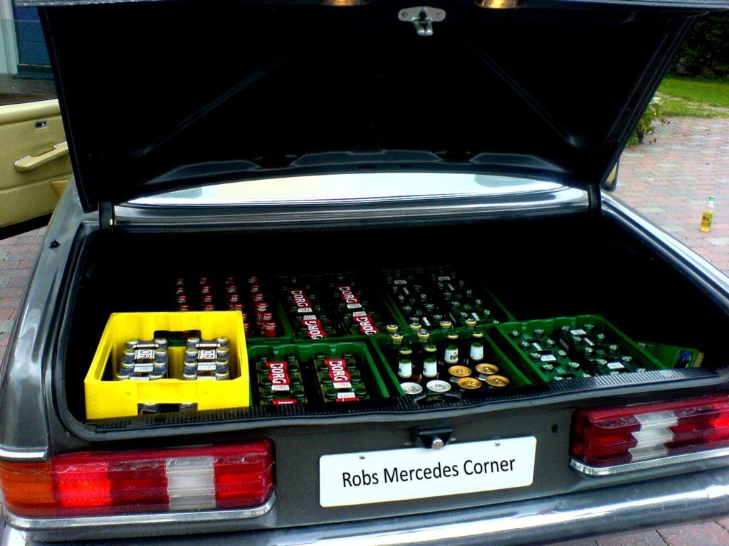 beer in trunk