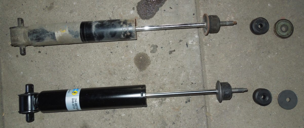 How to replace the rear and front shock absorbers on w123 sedan and coupé