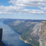 Robs standing over Kjerag at the edge in Lysefjord