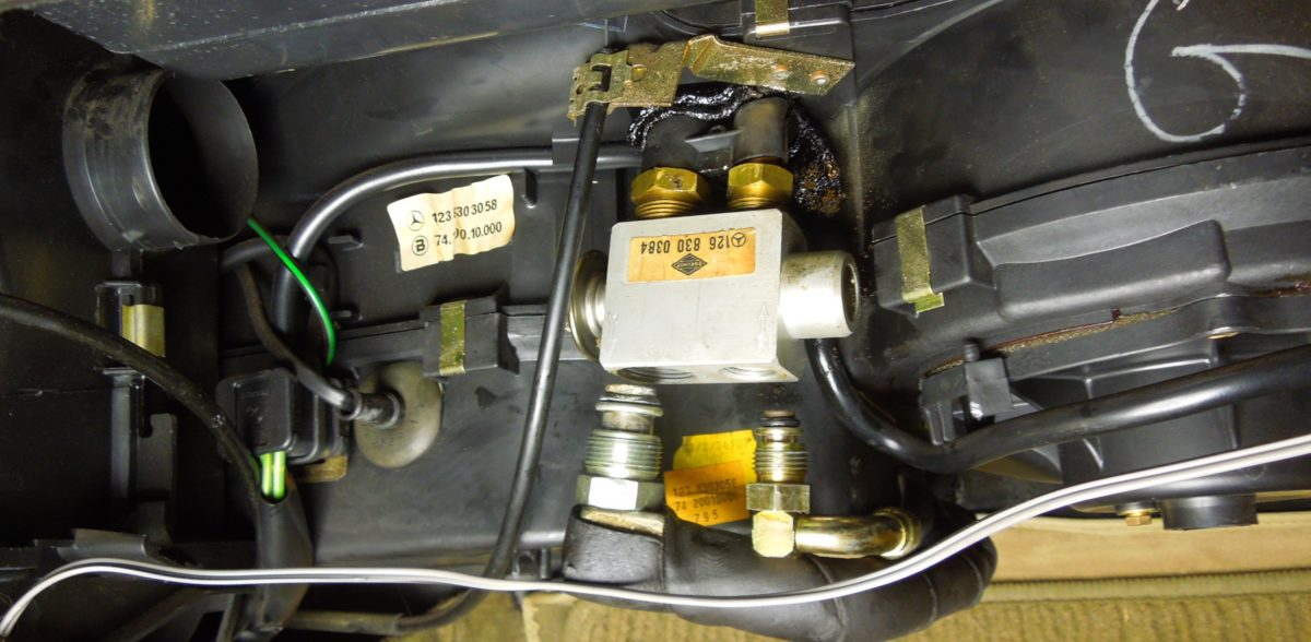 AC Part 4: Changing the Expansion valve in w123