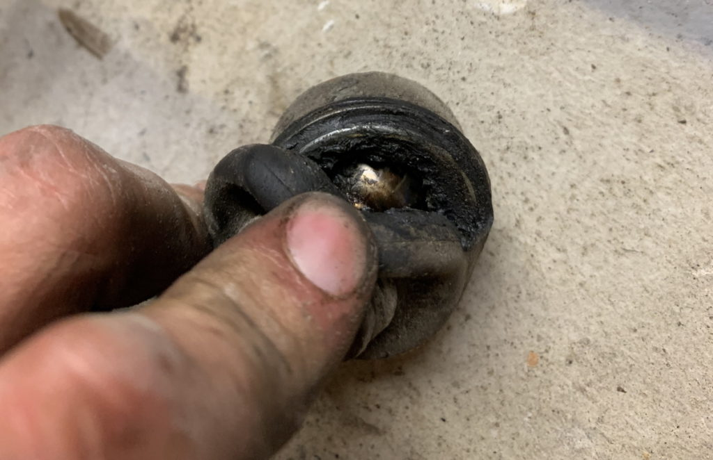 Broken sway bar link sleeve