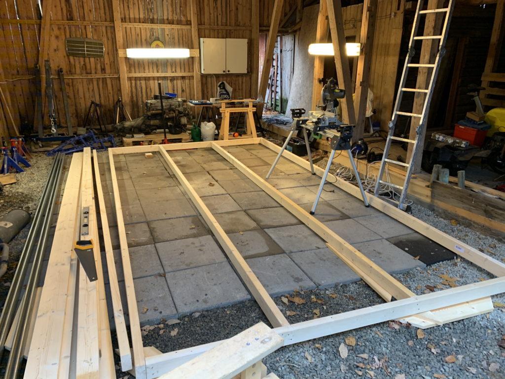 Fabricating the garage door frame