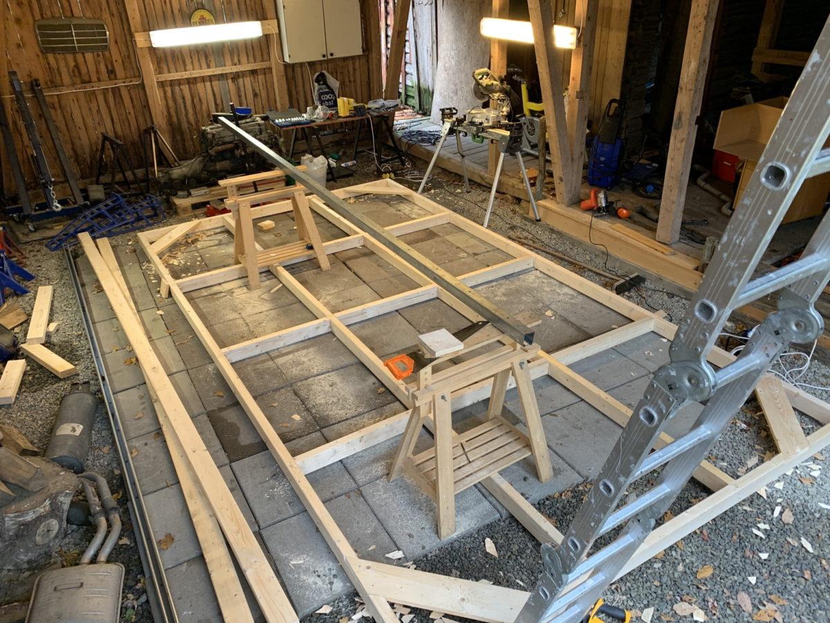 Garage door frame finished