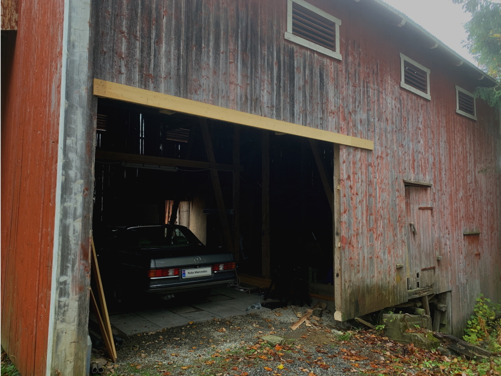 Initial opening in barn