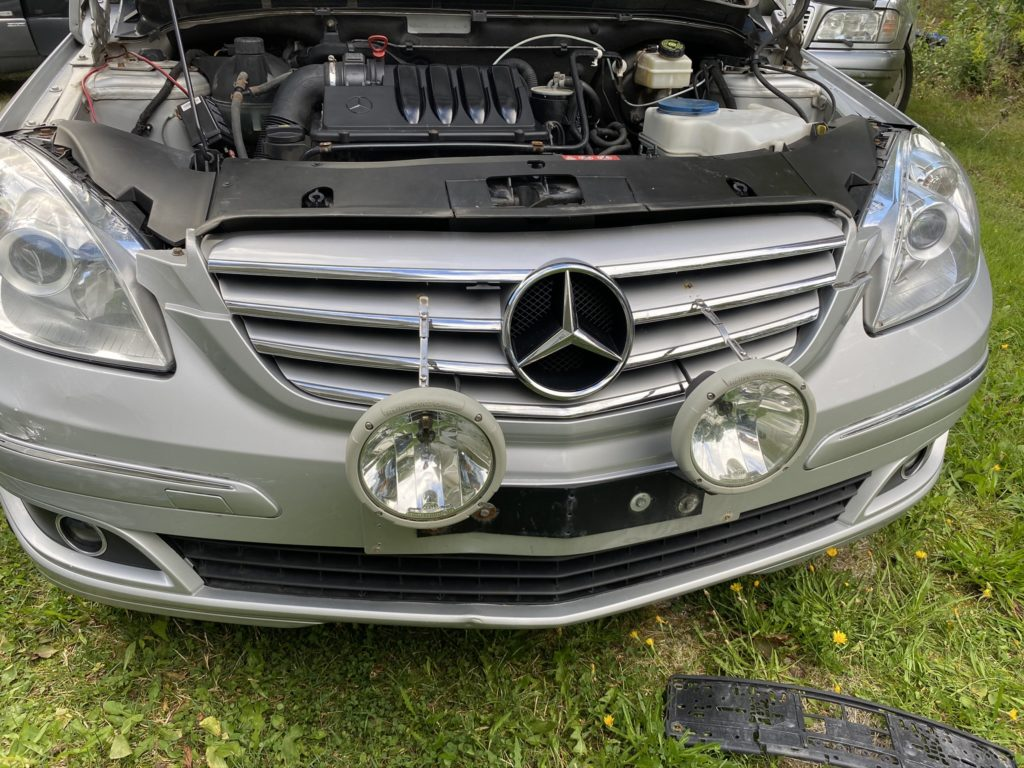 B-Class with extra headlights