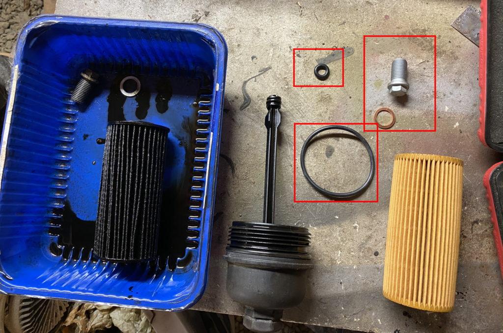 Oil filter kit parts B180CDI