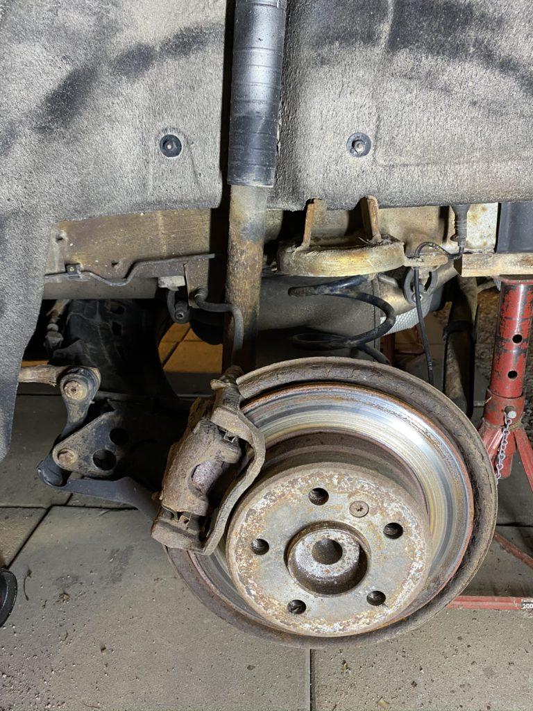Rear brake hub assembly