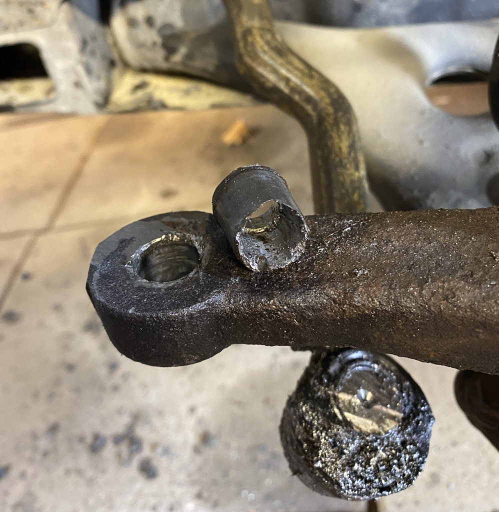 Tie-rod drilled out